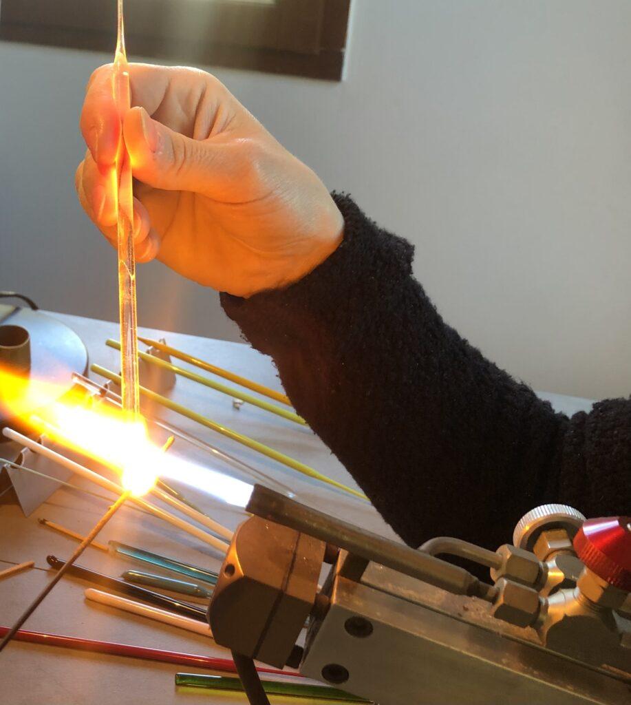 Température de fusion du verre 900°C